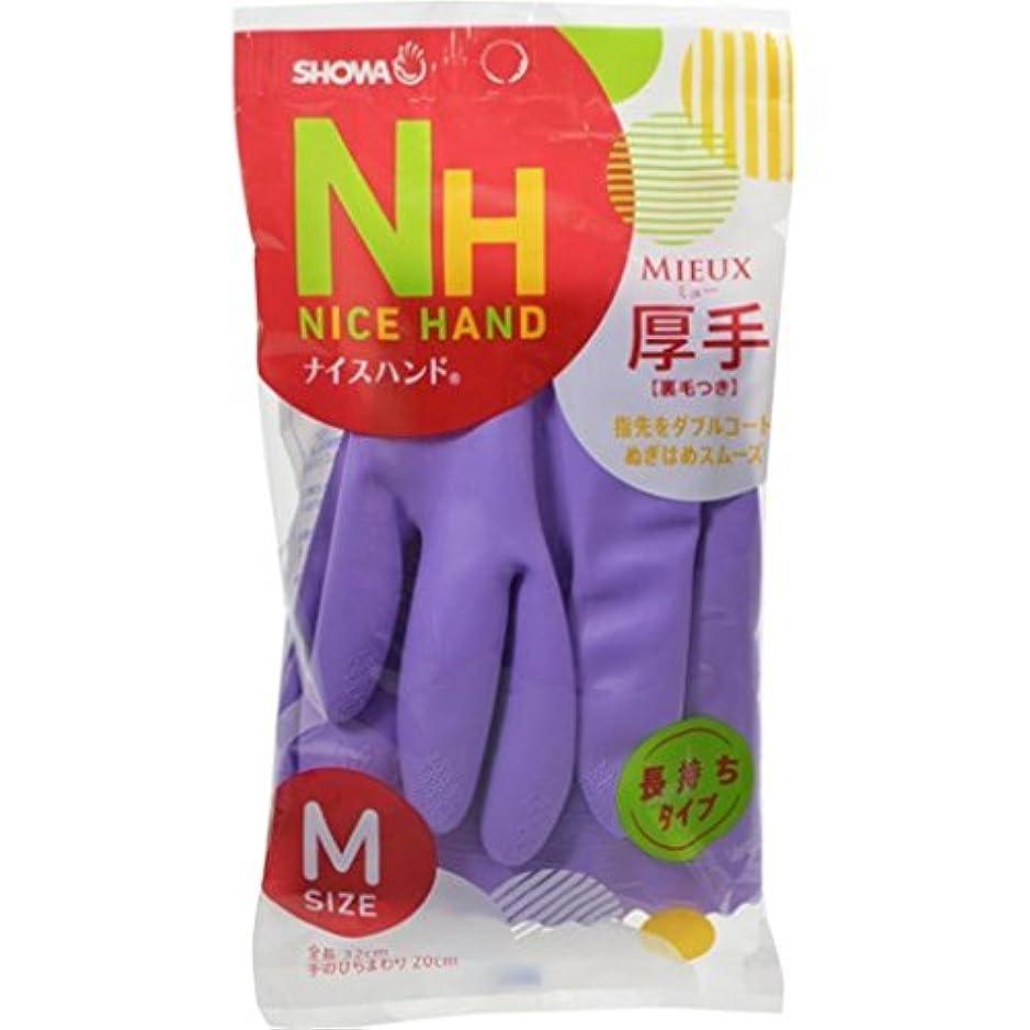 麦芽より多いフローティング(まとめ買い)ショーワ ナイスハンドミュー厚手 M バイオレット 【×20セット】