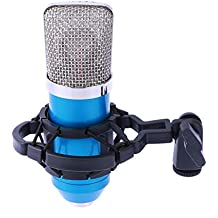 Healifty Studio Broadcasting Webcast Podcast Condenser Microphone Mic with Shock Mount (Blue Net)