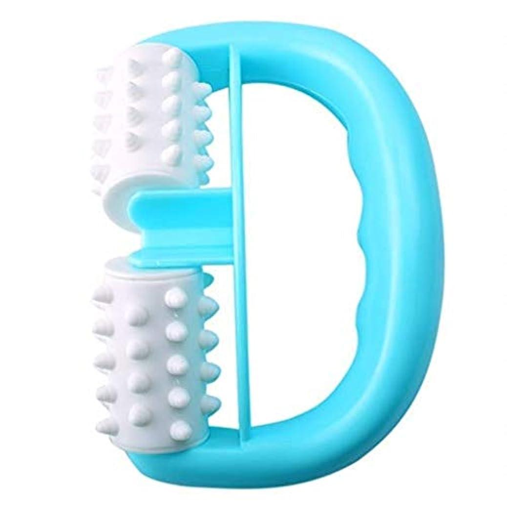 マントモルヒネ未使用マッサージャー、ハンドヘルドローラーマッサージャー、ダブルボールファットコントローラー、体の痛みを和らげる、Dr子午線