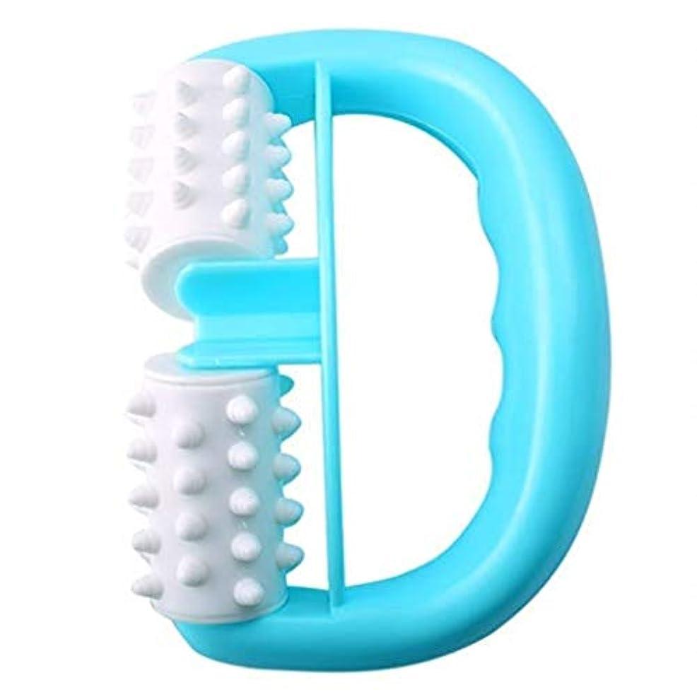 オセアニアステップ伝導マッサージャー、ハンドヘルドローラーマッサージャー、ダブルボールファットコントローラー、体の痛みを和らげる、Dr子午線