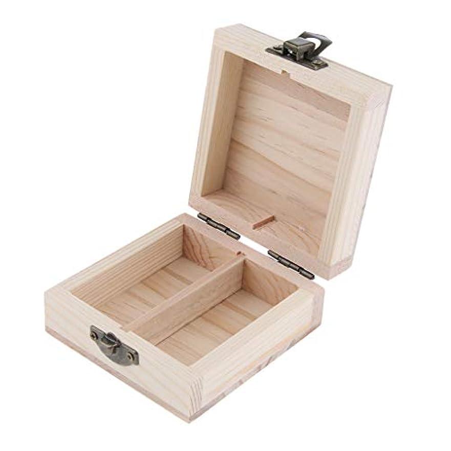 配偶者病んでいるリットルエッセンシャルオイルケース アロマケース 木製 2本入れ 展示用 15ミリボトル