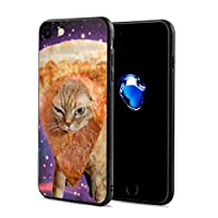 Epoch Ray ピザ帽子 猫 スマホケース IPhone8 ケース / IPhone7 ケース 携帯カバー アイフォン7/8カバー 滑り止め おしゃれ 軽量 薄型 人気