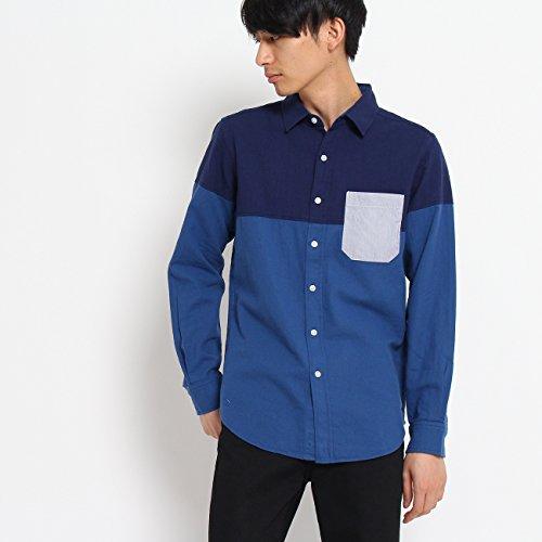 (ザ ショップ ティーケー) THE SHOP TK バーズアイバイカラーシャツ 61682665 03(L) ネイビー(493)