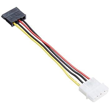 AINEX シリアルATA用電源変換ケーブル [ 12cm ] WA-085A
