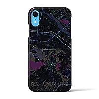 【京王よみうりランド】地図柄iPhoneケース(バックカバータイプ・ブラック)iPhone XR 用 #あなたの街もきっとある