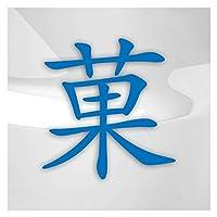 華 flower カ、(ケ)、はな 9cm x 10cm 15色 - ネオン+クロム! ステッカービニールオートバイ