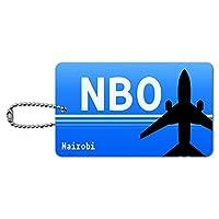 ナイロビケニア - ジョモ・ケニヤッタ国際空港(NBO)空港コード IDカード荷物タグ