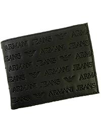 [アルマーニ]ARMANI ジーンズ 二つ折財布(ブラック) 06V57 V7 12 A-2164 [並行輸入品]