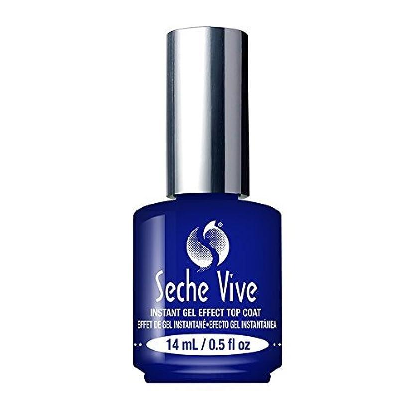 安定口頭スローガン(6 Pack) SECHE Vive Instant Gel Effect Top Coat (並行輸入品)