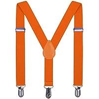 Suspenders for Boys Child Kids Adjustable - Elastic Y Shape Soild Color Suspender