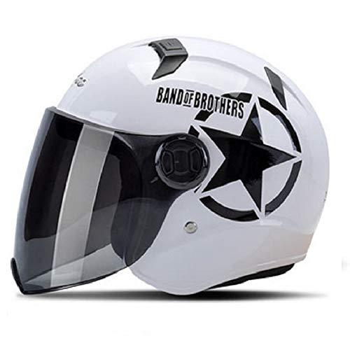 GOHAN バイクヘルメット ハーフヘルメット 開閉式シールド 取り外せるスカーフ付き 多色選択可能...