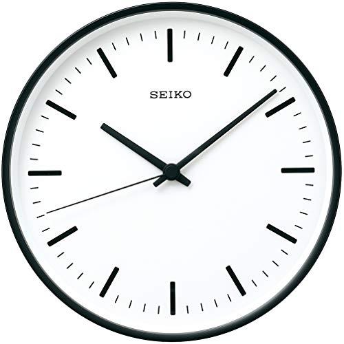 セイコークロック 掛時計 黒 直径265×44mm 電波 アナログ KX309K