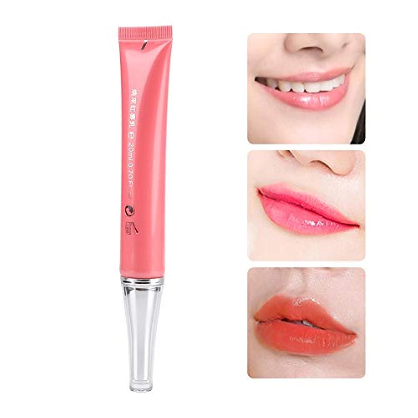 団結エンターテインメント悪性の色の口紅を変える、温度変化保湿ライトニング肌ピンクがかったジェル長持ちリップグロス女性用