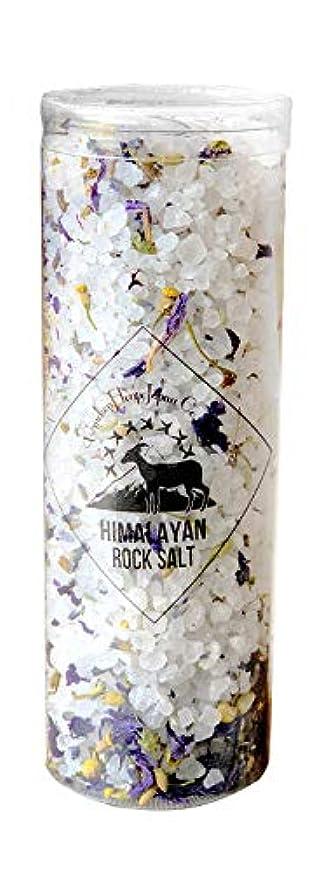 好む見せますおしゃれなヒマラヤ岩塩 バスソルト ホワイト ハーブ&スパ 300g(10回分)