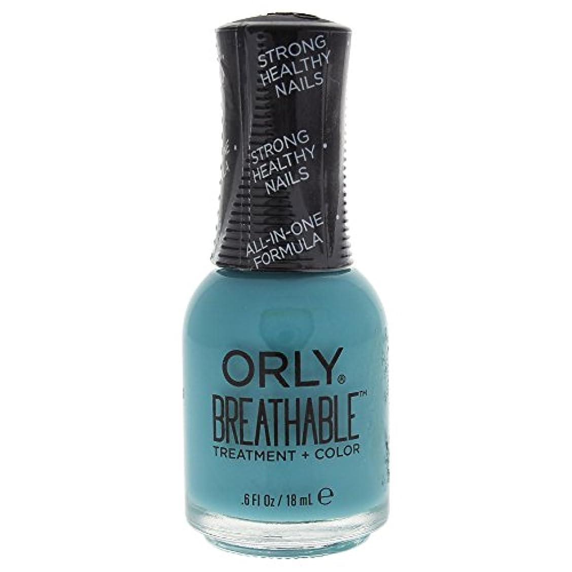 チャームくるくる廃止するOrly Breathable Treatment + Color Nail Lacquer - Detox My Socks - 0.6oz / 18ml