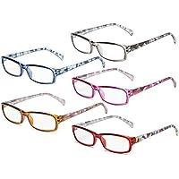 Eyekepper Stylish 5-pack Ladies Reading Glasses Fashion Readers Women +0.5