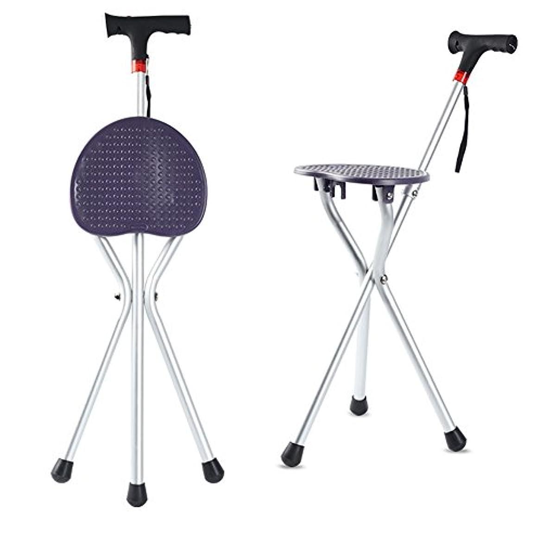 増幅する突然ショット折り畳み式 軽量 三脚 折りたたみ 3脚杖 と Ledライト, 医療援助 マッサージ 歩行補助杖 アンチ スリップ ウォーカー 松葉杖 スツール椅子-C