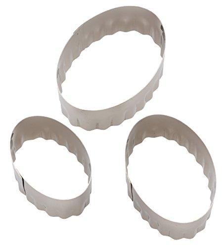 貝印 クッキー 抜き型 3個 セット ( 楕円形 ) Kai House Select