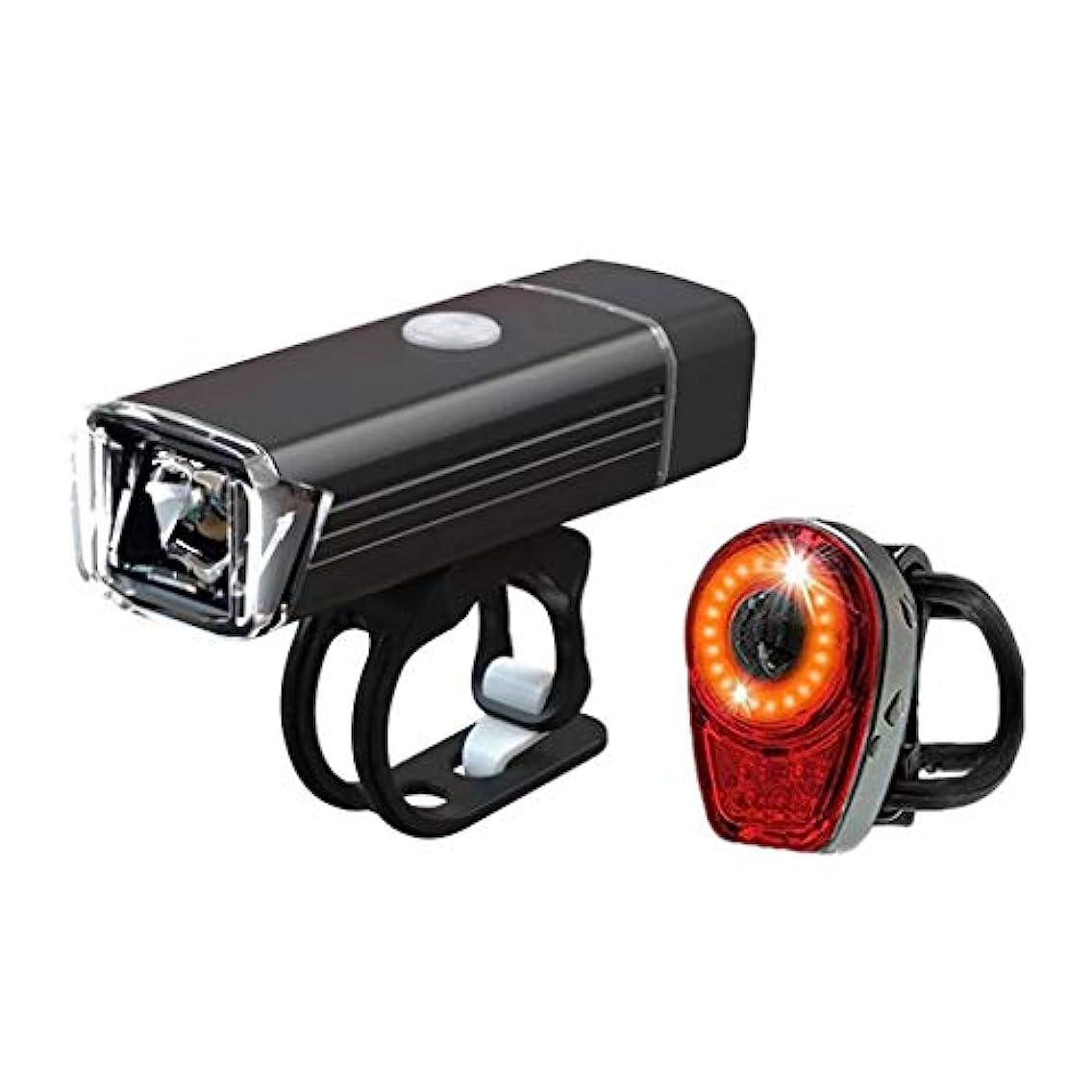 結論オーブン時計自転車ライトセット USB充電式, マウンテンバイ クヘッドライト スーパーブライト 300ルーメン, 自転車ヘッドライト無料テールライト