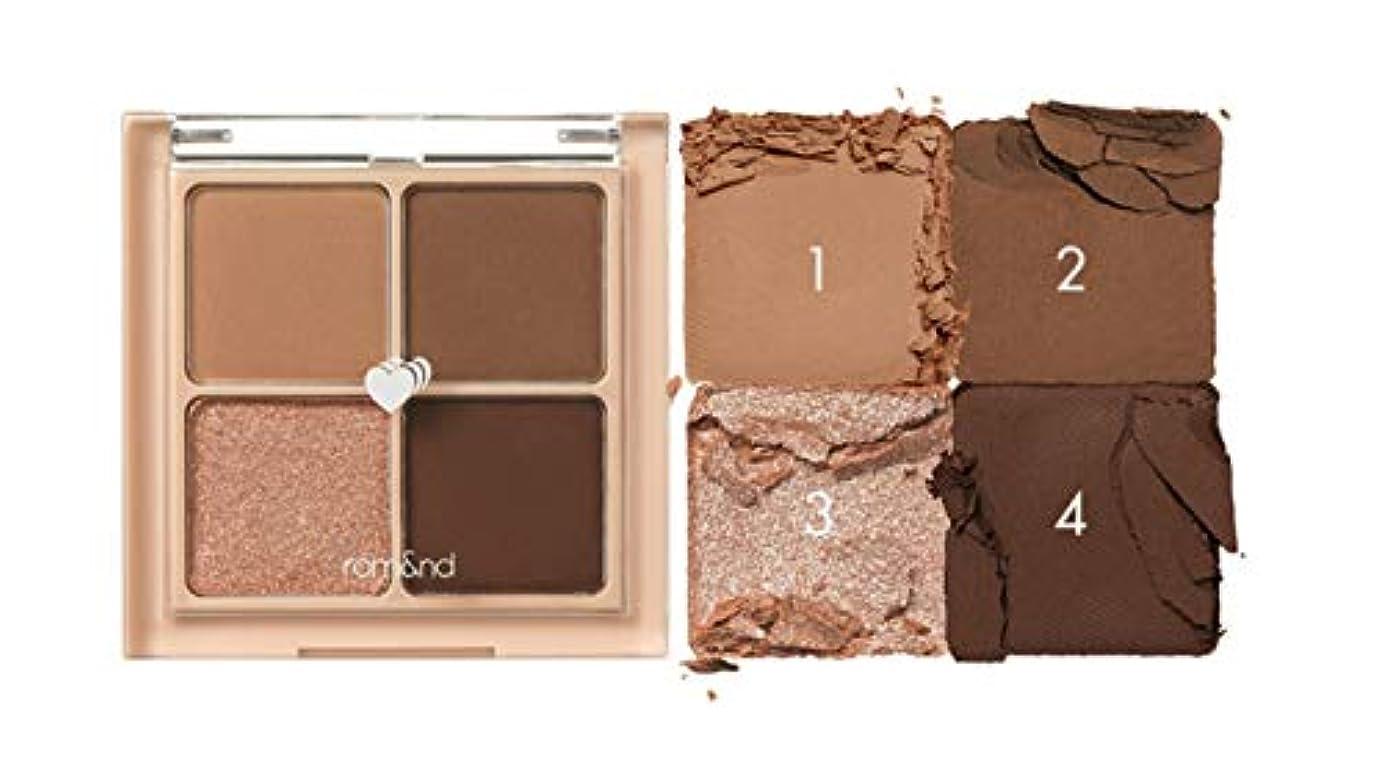納屋過剰エゴイズムrom&nd BETTER THAN EYES Eyeshadow Palette 4色のアイシャドウパレット # 3 DRY ragras(並行輸入品)