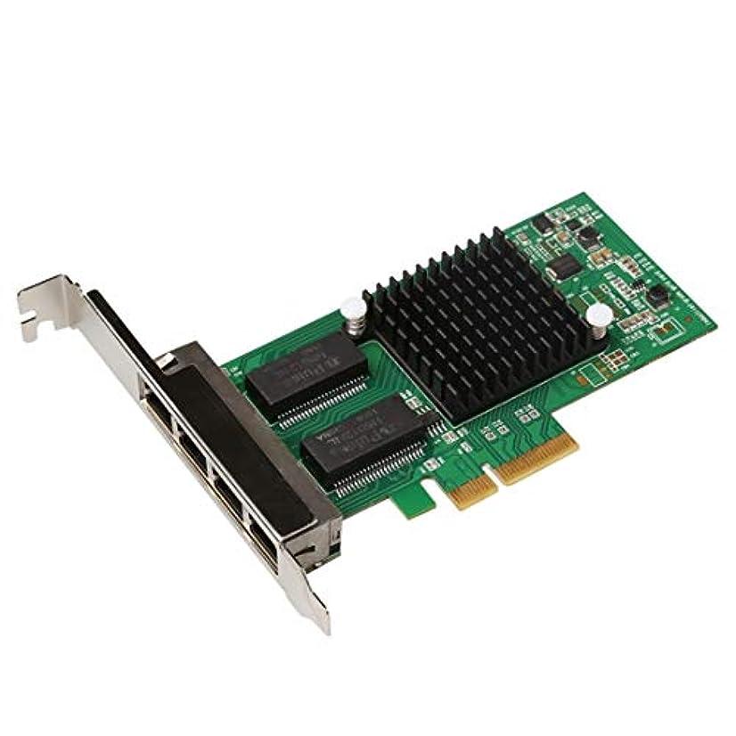権限責任者デンプシーWTYDコンピューターアクセサリー TXA034 4 RJ45ポートインテルI350 PCI Expressのギガビット?ネットワークLANカードネットワークアダプタ コンピューターに使用