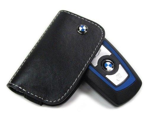 【BMW純正】 US限定 BMW レザー キーケース ブラック (ラージリモコン用) キーホルダー 80232209855