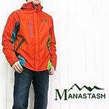 (マナスタッシュ)MANASTASH レイヤーシステムパーカー アウトドア マウンテン ウインドブレーカー ジャケット L オレンジ