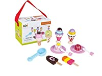 Lelin Wooden 25 Pieces Ice Cream Selection Pretend Play Set [並行輸入品]