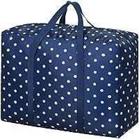 大規模なオックスフォード布の収納袋防水モイスチャルフォールディング折りたたみトラベルオーガナイザーポータブル荷物ワードローブ服仕上げ整理キルト羽毛移動保管袋 (サイズ さいず : 58 * 28 * 45cm)