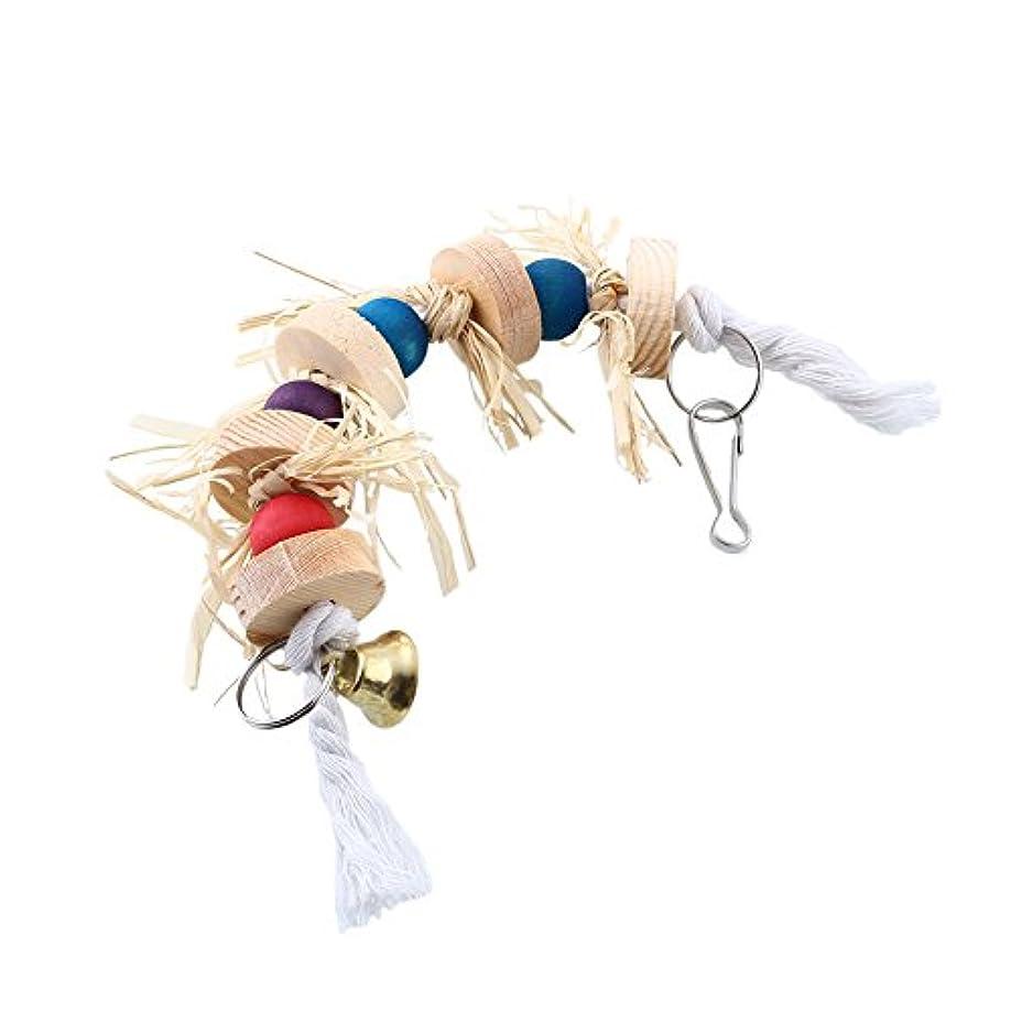 生む見通し悲鳴Fenghong 鳥のかみ傷のおもちゃ\25cmのオウムのわらのおもちゃ