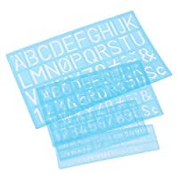 SUPVOX 4PCSアルファベット文字ステンシル描画絵画ステンシルスケールテンプレート