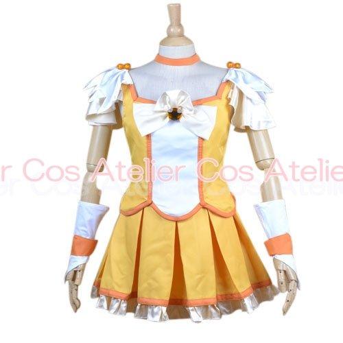 スマイルプリキュア キュアピース 黄瀬やよい 風 コスプレ衣装