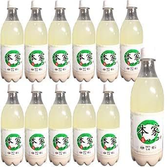 『本家』生マッコリ アルコール度 6度(750ml×12本・PET) 珍しい日本産の生マッコリほんけ お酒 米酒 伝統酒 日本産マッコリ