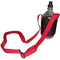 水ボトルホルダー、1サイズすべてに適合、ストラップ付ボトルホルダー調節可能なショルダーストラップMade in USA