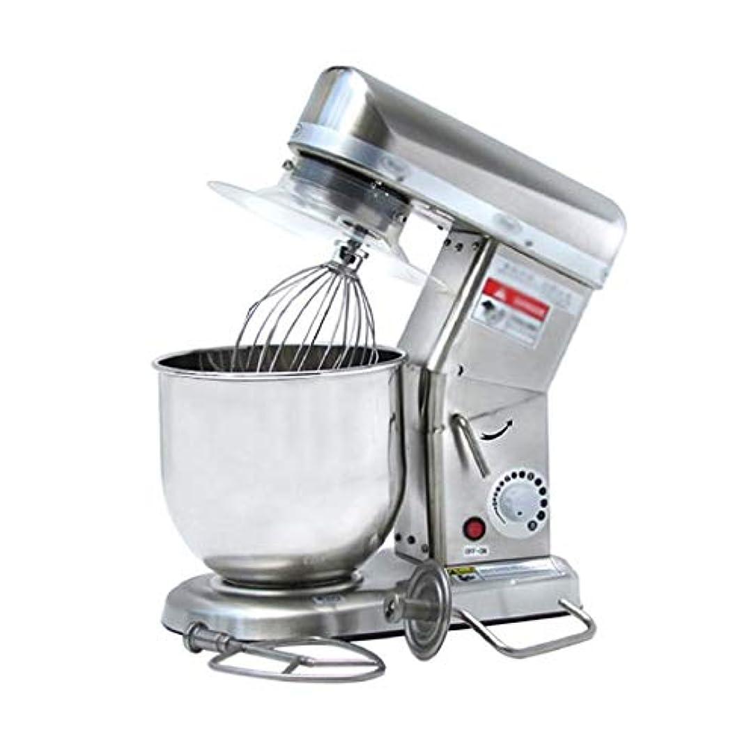 コメンテーター非効率的な拍手するミキサースタンド - パワフルでスタイリッシュなキッチンマシンでは、食品スプラッシュガード、ビーター、生地フックウィスクでボウルキッチンマシンミキシングミキサー7Lスタンド (Color : Silver)