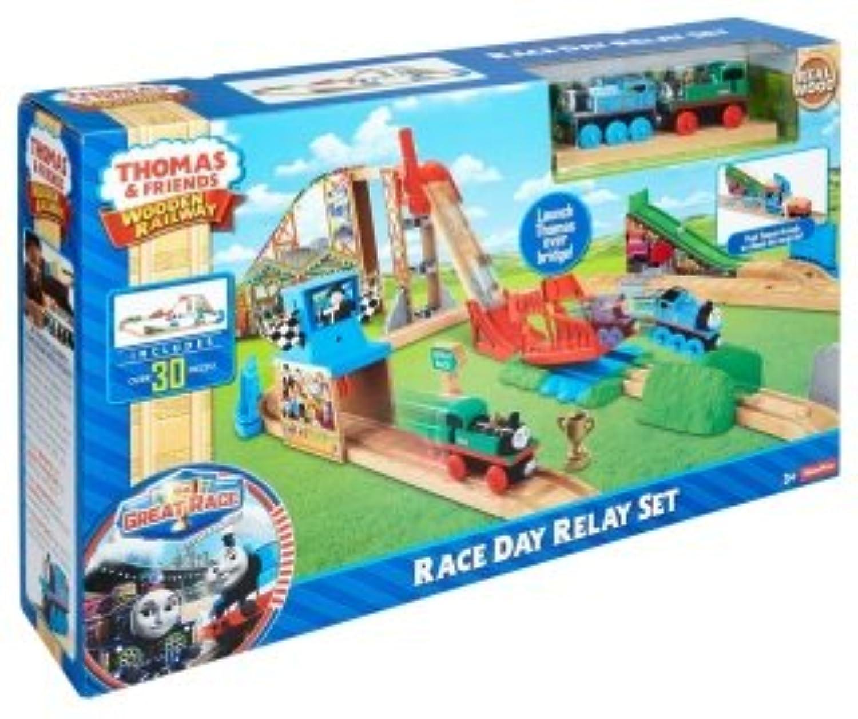 きかんしゃトーマス 木製レールシリーズ Race Day Relay Set レース デイ リレー セット (DFW97) フィッシャープライス [並行輸入品]
