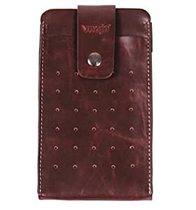 スマートフォン ケース ベルト iphone6 plus ケース ベルト iphone6 ポーチ メンズ スマートフォンポーチ スマホポーチ スマートフォンポーチ レザー iphone6 plus 5.5インチ 5インチ ベルト 大きめ かっこいい (ダークブラウン)