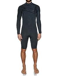 (クイックシルバー) Quiksilver メンズ 水着?ビーチウェア ウェットスーツ Monochrome 2mm 2018 Chest Zip Long Sleeve Shorty Wetsuit [並行輸入品]