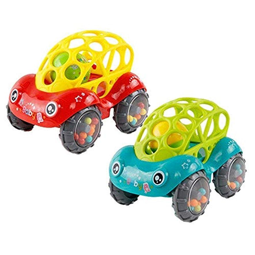 アクロバット早い歌詞おもちゃ 赤ちゃんのおもちゃ 車のおもちゃ 玩具 子供の玩具 ガラガラ ロール車のおもちゃ 2個入り(1赤+1緑)