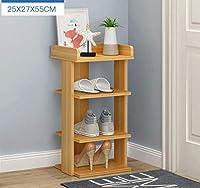 靴天然竹収納ラック多層交換靴スツール多機能収納ラックシューラック(サイズ:25×27×55cm)