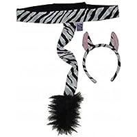 [メイキングビリーブ]Making Believe Kids Plush Zebra Headband Ears & Tail Jungle Safari Dressup Costume Set LYSB001D1C8P0-TOYS [並行輸入品]