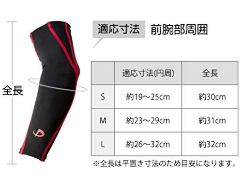 ファイテン スポーツスリーブX30腕用2枚ブラック×ブラックL