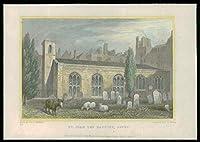 1831年のロンドン - 元の骨董品プリントビューセントジョンザバプティストサボイ(50)