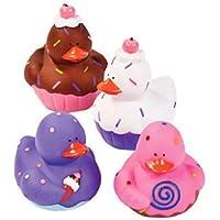 12 Sweet Treat Cupcake Ice Cream Rubber Ducks [並行輸入品]