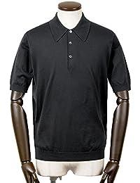 ジョンスメドレー JOHN SMEDLEY / 18SS!シーアイランドコットン30ゲージ半袖ニットポロシャツ『ISIS』 (BLACK/ブラック) メンズ