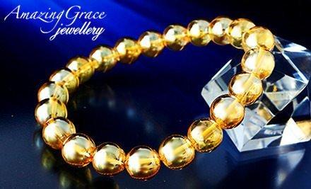 【水晶】ゴールデンオーラブレスレット 10mm≪凝縮された『色』のパワーで一気に金運UP!≫ (M:18cm)