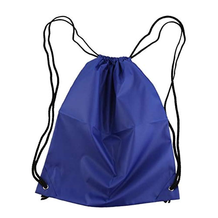 情報仮装いつでも防水性の強いナイロンコードキャリーハンドルプレミアムスクールドローストリングダッフルソフトバックバッグスポーツジムスイムダンスシューズバックパック-ライトブルー