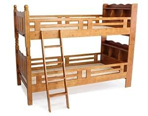 宮付き二段ベッド 二段ベッド 2段ベッド シングルベッド すのこベッド 木製 二段 ベット 2段ベット ブラウン
