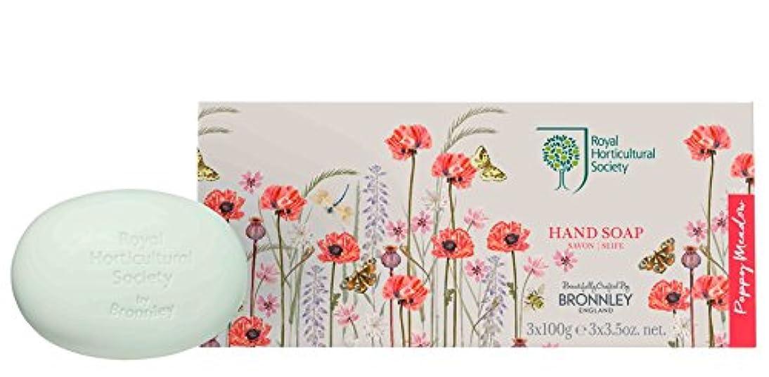 パリティ投資する黒人RHS Poppy Meadow – Soap Collection 3 x 100g
