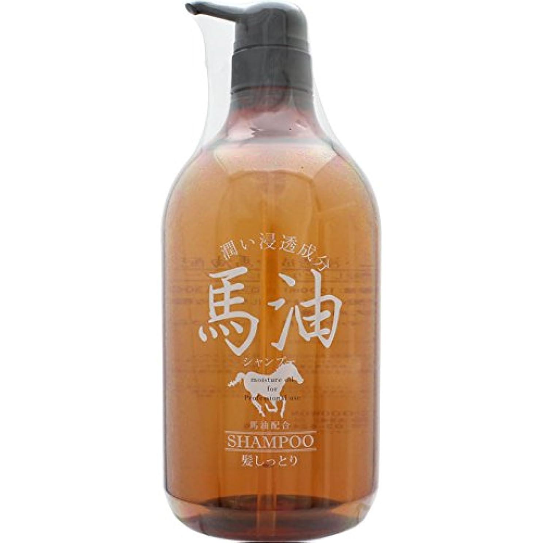 バラ色水っぽい秀でる宇津木産業 髪しっとり 馬油シャンプー 1000ml